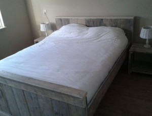 Steigerhout bed limburg