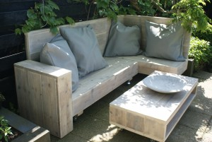Loungeset in steigerhout