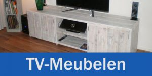 Tv meubel wit steigerhout